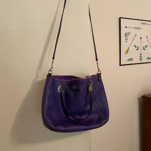 Purple Coach purse in excellent condition.